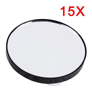 Mini Pocket Makeup Mirror 15X Magnifying Mirror With 2 Suction Cups Round Compact Cosmetic Mirror Bathroom Magnification Glass bath mirror cosmetic mirror 1x 3x magnification suction cup adjustable makeup mirror double sided bathroom mirror