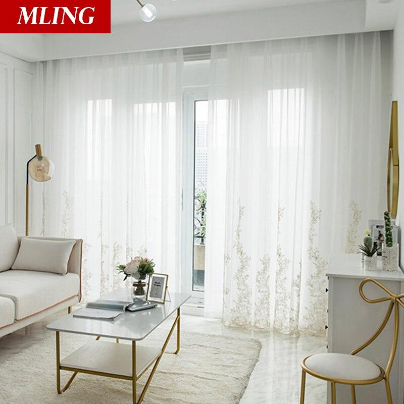 Японский стиль, белые прозрачные Занавески для гостиной на окна, занавески в спальне, украшение для дома, тюль для Cortinas в зале