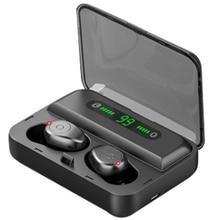 Wireless Earbuds Bluetooth 5.0 Earphones Contact Control Tws Gaming Headset Ipx7 Waterproof Earphone 1200Mah Digital Display