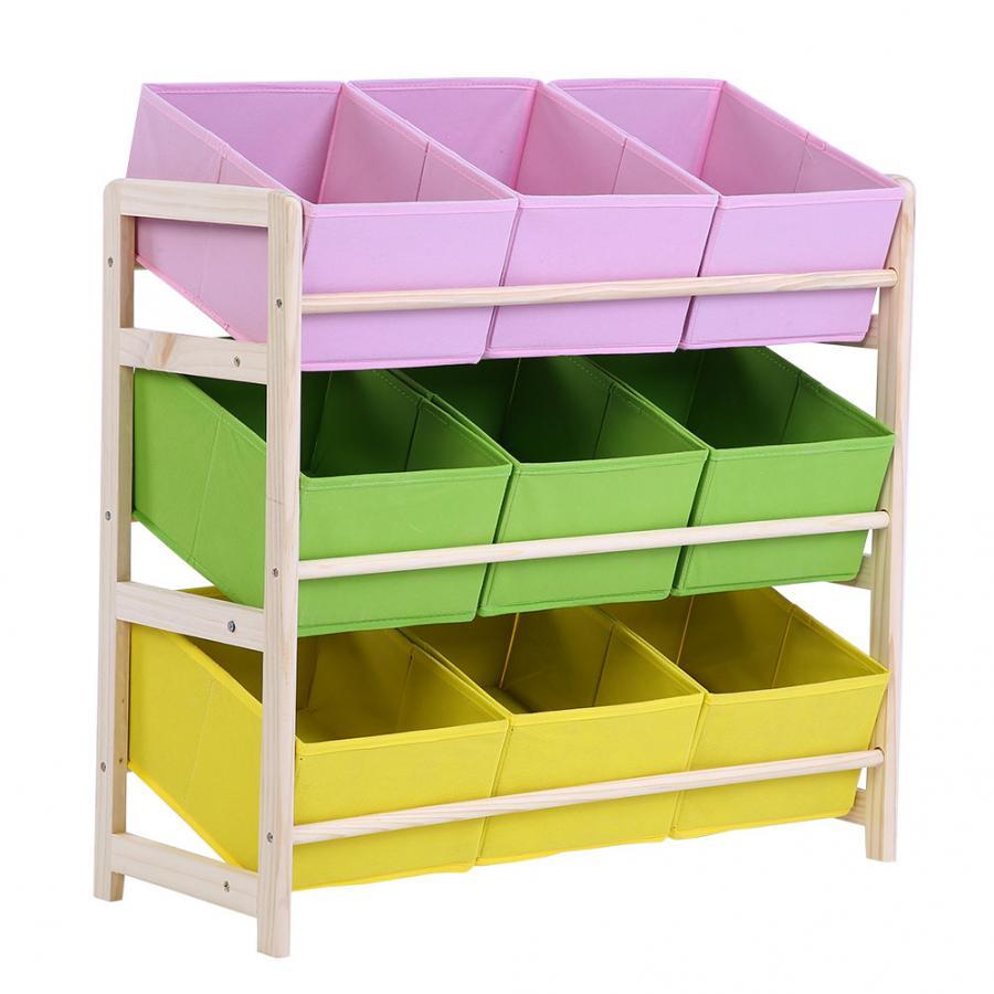 Toy Storage Shelf Baby Kids Wooden