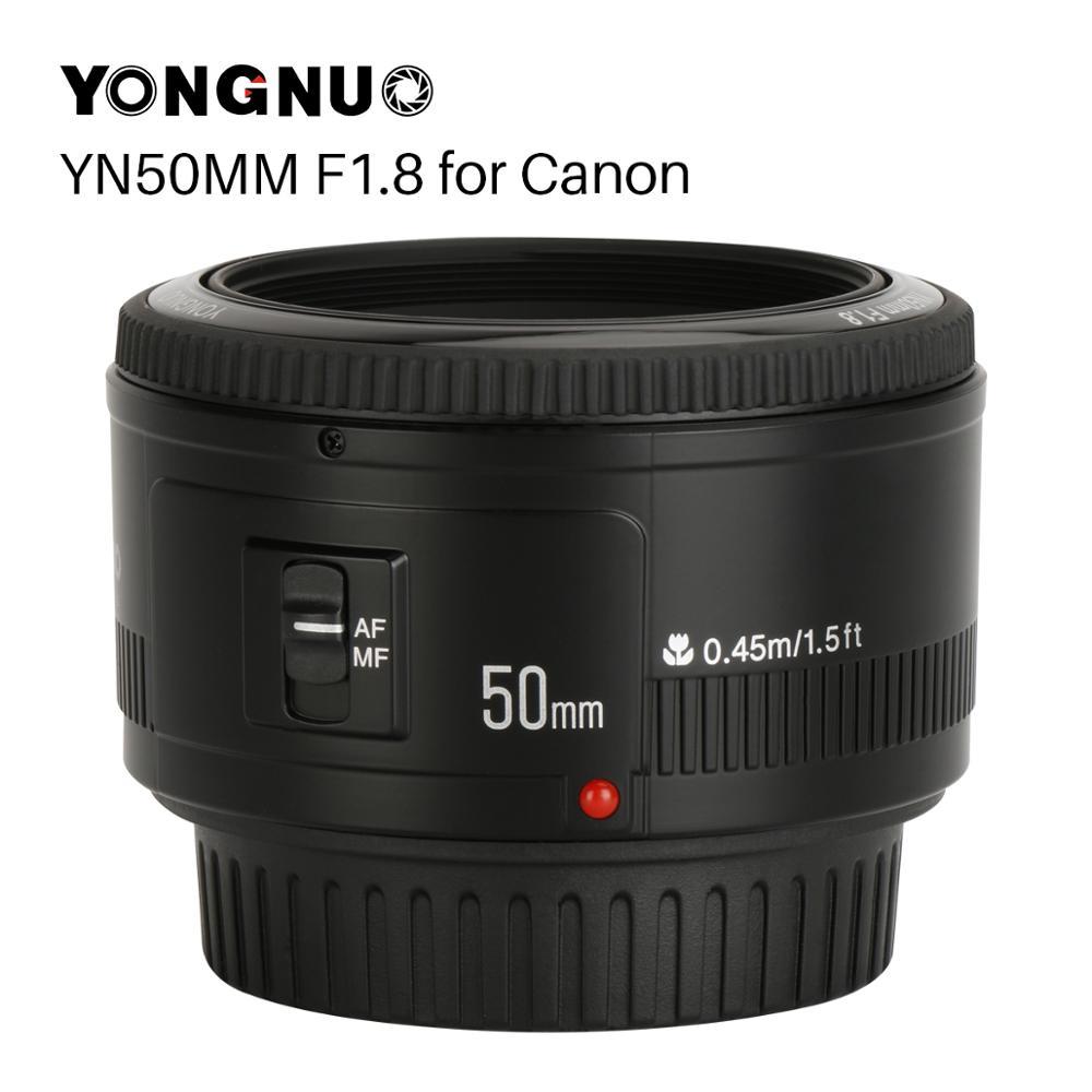 YONGNUO YN50mm YN50 F1.8 EF EOS 50MM MF de la Lente de la cámara para Canon Rebel T6 EOS 700D 750D 800D 5D Mark II IV 10D 1300D