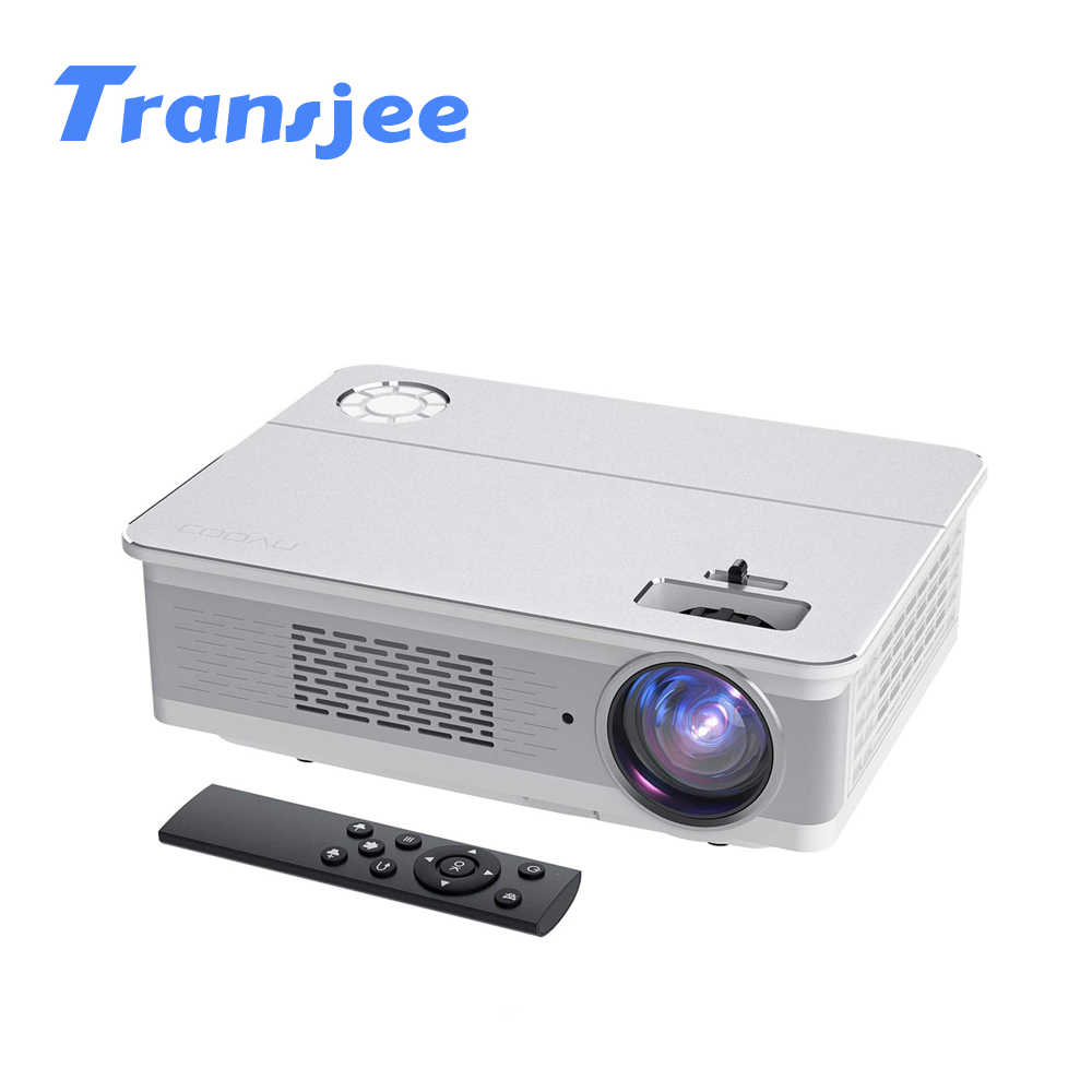 TRANSJEE A6000 natif 1080p Support 4K projecteur Full HD film 3D Android LED Projecor 5800 Lumens affaires cinéma