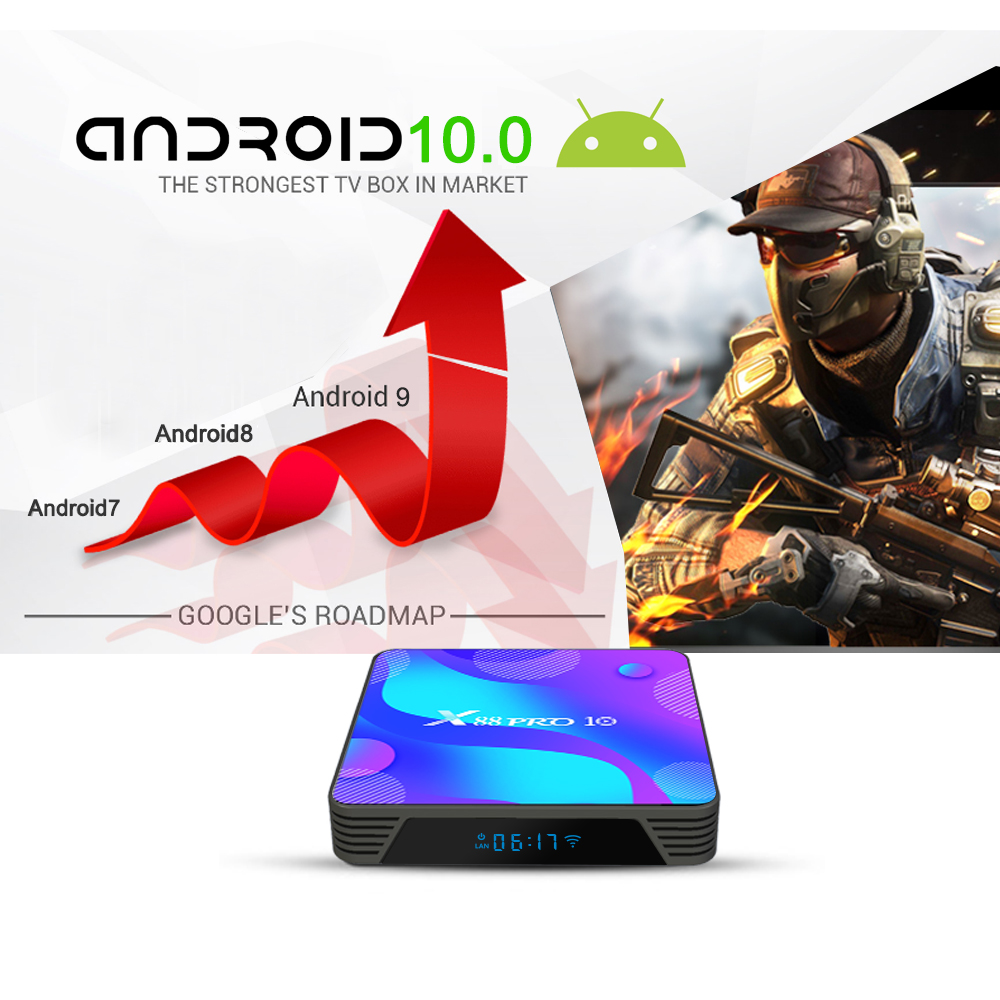 Android 10.0 Smart TV Box Android 10 MAX 4 GB RAM 128 GB ROM RK3318 - Audio dhe video në shtëpi - Foto 5