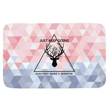Sholisa Anti Slip Bath Mat  Absorbent Shower Rugs Carpet Bathroom Living Room Area Rug Nordic Style Flannel Rug Fluffy Easy Care