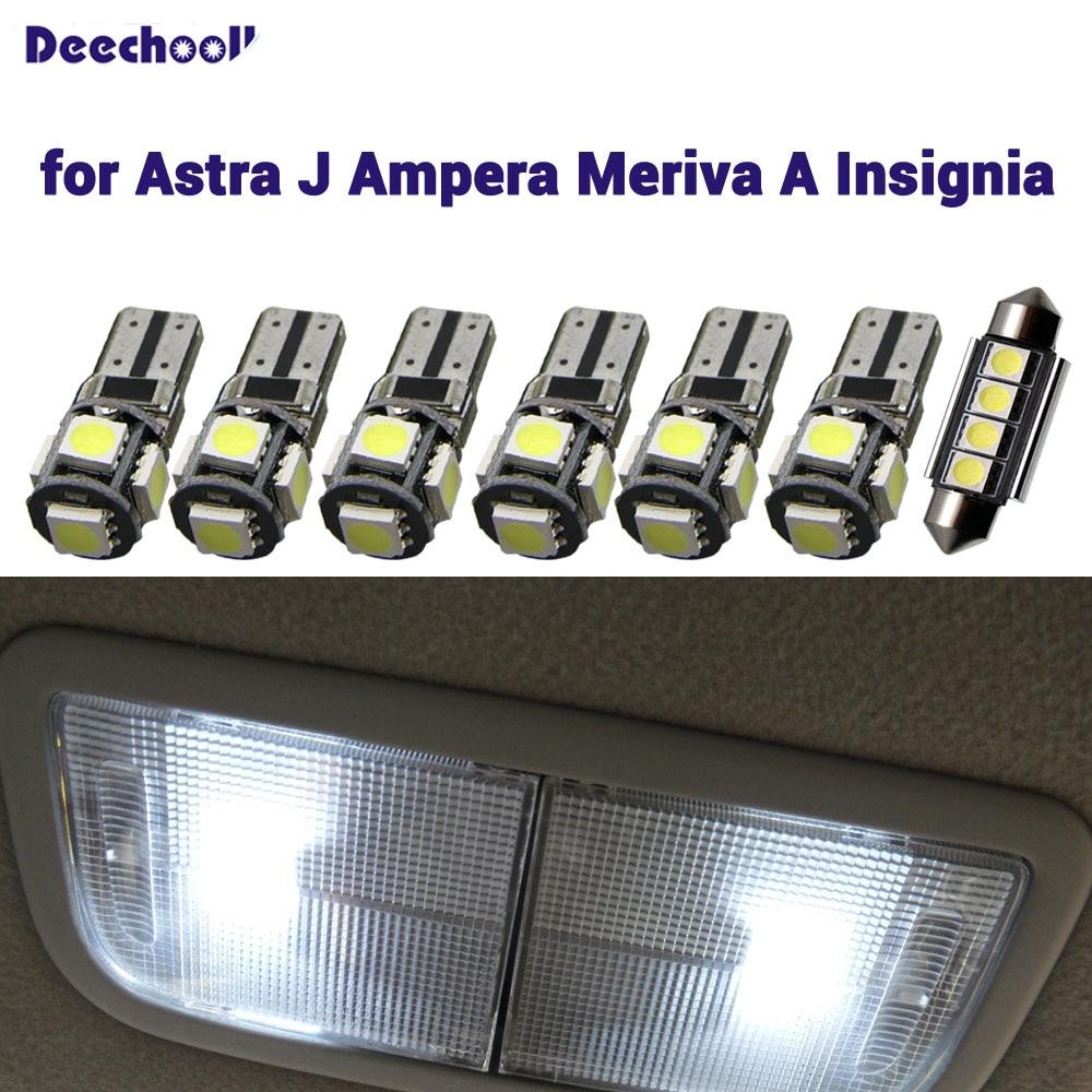 Iluminación Interior Opel Insignia Set con 15 Luces Lámparas de Lectura Blanco