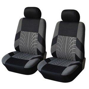 Image 5 - רקמה אוניברסלית רכב מושב מכסה סט Fit ביותר מכוניות מכסה עם צמיג מסלול פירוט סטיילינג רכב מושב מגן אביזרי רכב