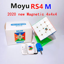 2020 MoYu MFRS4 M 4x4x4 küp manyetik sihirli MF RS4M RS3M 3x3x3 bulmaca küpleri 4x4 magico hızlı küp yarışması küpleri