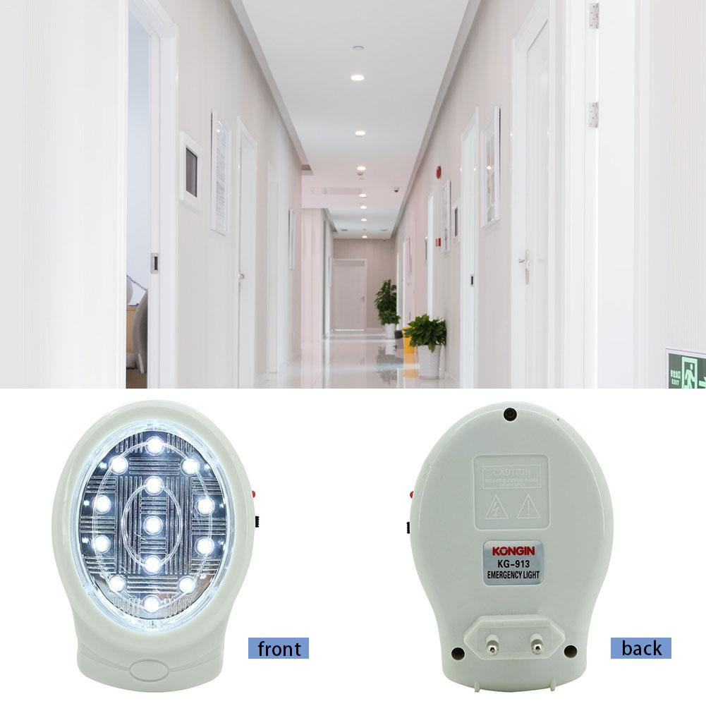 13 LED Night Light Plug-in LED Wall Lamp Light Closet Battery Power Entertainment Party Events Emergency Fire Safety Light