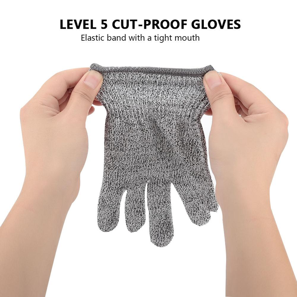 1 Pair Work Gloves Tool Production Anti-Scratch Safety Metal Mesh 5 Grade Protection Cut-Resistant HPPE Resistant Stainless Stee