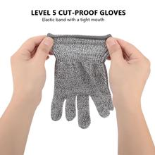 1 Pair work gloves Tool Production Anti-Scratch Safety Metal Mesh 5 Grade Protection Cut-Resistant HPPE Resistant Stainless Stee цена