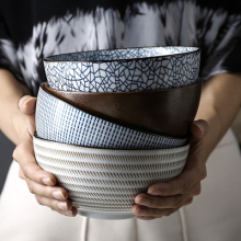 Подглазурная цветная миска для супа, миска для лапши, керамическая миска, набор посуды, миска для риса, Салатница, миска для риса, для домашнего использования