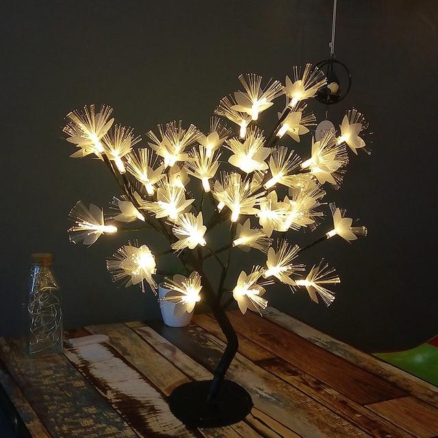 Promotion! LED saule branche lampe à piles Simulation orchidée branche lumineuse Vase remplissage fleur branche fée guirlande lumineuse (E 3
