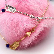 Personality Alloy Arrow Pendant Necklace Women Simple New Geometric Long Chain Necklaces Jewelry