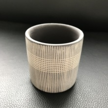 Multiple Lines Design Round Flowerpot Silicone Mold for Home Landsape Planter Mould Cement Clay Pot Molds