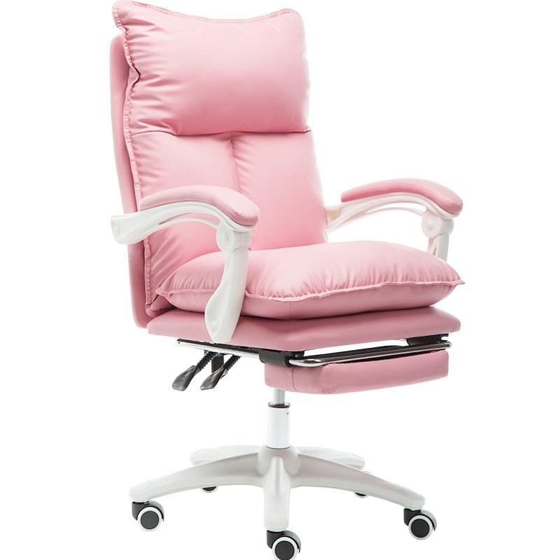 Computer Chair Comfortable Sedentary Home E-sports Chair Anchor Girl Cute Girl Heart Boss Office Chair