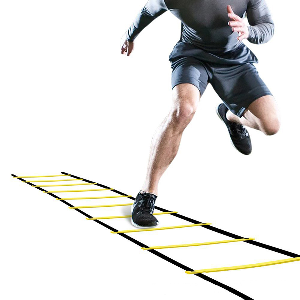 Ao ar livre indoor ajustável agilidade formação escada para a aptidão mma ágil ritmo boxe futebol formação escada velocidade