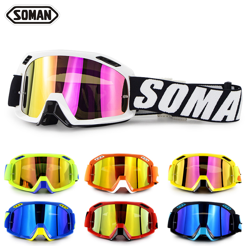 SOMAN Motorcycle Goggles Off Road ATV Motocross Goggles Dirt Bike Gafas Downhill Lunette Moto Cross Country Motorcycle Glasses
