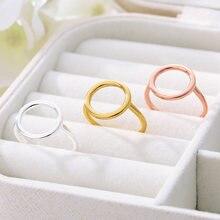 Boho круг кольца для пар Нержавеющаясталь регулируемый круглый