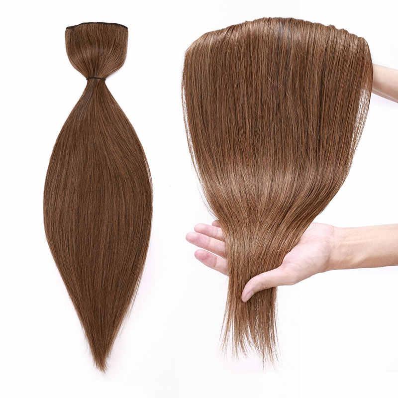 """SEGO 16 """"-22"""" 80G-100G Clip In Einem Stück Brasilianische Haar Clips 1 p/w 5 clips Nicht-Remy Haar stück Gerade Clip Menschenhaar Verlängerung"""