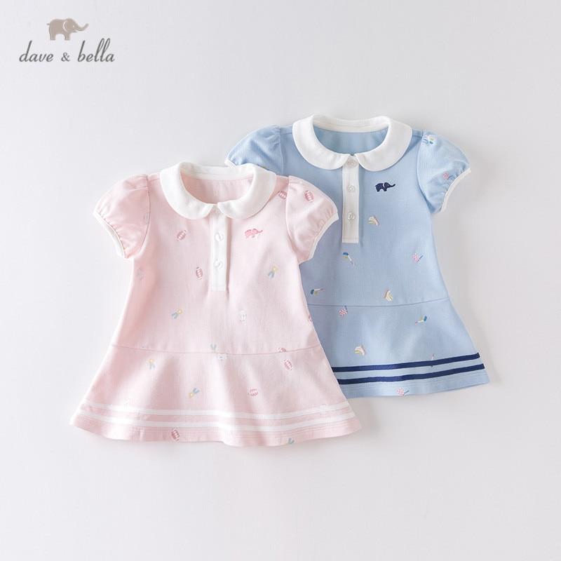 Dave bella/DBM14115 летнее платье для маленьких девочек, платье принцессы в полоску с мультяшным рисунком, Детские Модные Вечерние Платья, детская одежда в стиле Лолита|Платья| | АлиЭкспресс