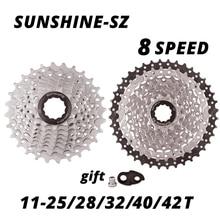 SUNSHINE 8 скоростей свободного хода MTB дорожный велосипед 8S кассеты 25t 28t 32t 40t 42T маховик для M310 M360 Alivio M410 HG31-8