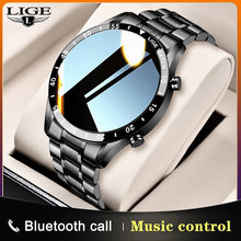 LIGE 2021 New Fashion Smartwatch Bluetooth Call Sport Men's Watch Heart Rate Monitoring Music Control Waterproof Smart Watch Man