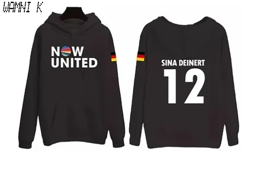 WAMNI 2020 Now United Hoodie Sweatshirts Men Women Germany Sina Deinert 12 Pullover Unisex Harajuku Tracksui