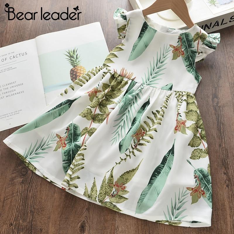 Bear Leader Girls Dress New Summer Kids Girl Princess Dresses Floral Sweet Dress Lovely Casual Costume Children Clothing 3 8Y