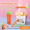 Creative Cute Carrot Food Sealing Clip Cartoon Snack Moisture-proof Sealing Clip Magnet Refrigerator Magnet Send Storage Box