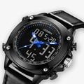 Добавки Топ бренд модные спортивные часы досуг бизнес 30 м водонепроницаемые электронные кварцевые часы цифровой светодиодный цифровые нар...