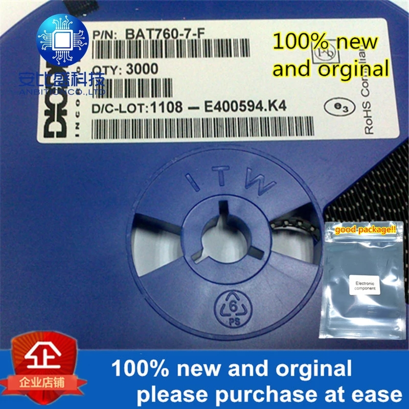 50pcs 100% New And Orginal BAT760-7-F SOD323 In Stock