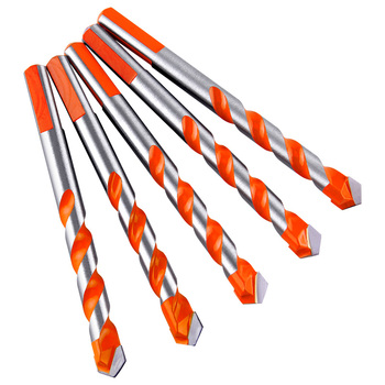 цена на 5pcs 6-12mm Triangle Twist Drill Bits Wood Working Wood Drilling Glass Tile Cement Wall Drill Bits for Metal Drill Set