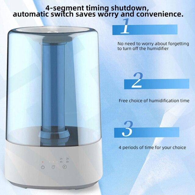 Humidificador ultrasónico de aire de 3,5 l, luz Led de relleno superior de agua, difusor de Aroma de aceite esencial para uso en el hogar y la Oficina