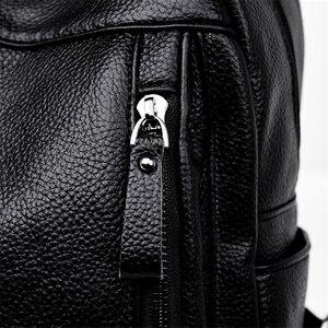 Image 5 - Высококачественный Женский рюкзак VANDERWAH 3 в 1, женский кожаный рюкзак на молнии, нагрудная сумка, вместительная школьная сумка, дорожная сумка