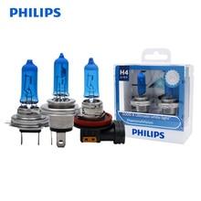 Philips Diamond Vision H1 H4 H7 H8 H11 HB3 HB4 9003 9005 9006 12V 5000K Car Halogen Head Light Fog Lamps Xenon White Bulbs, Pair
