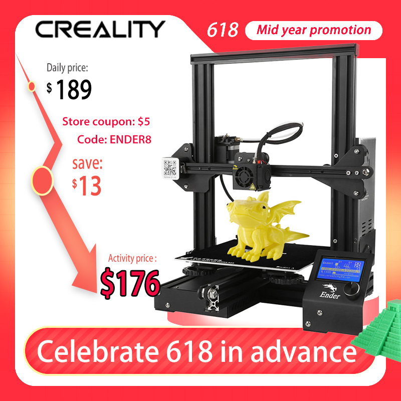 Drukarka 3D Creality 3D Ender 3 z EU za $167.00 / ~616zł