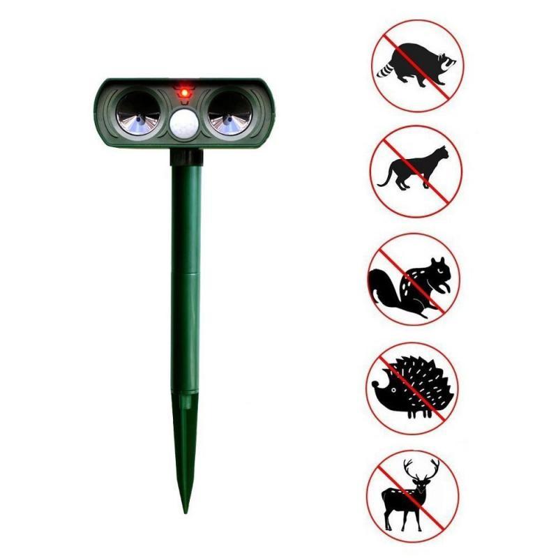 Cat Dog Ultrasonic Repellent Outdoor Solar Powered Waterproof Animal Repeller Deterrent Scarer Pest Control Garden Supplies