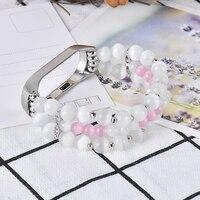Cinturino bianco per Xiaomi mi band 4 bracciale correa opaska sostituzione Miband 6 5 3 accessori cinturino perline eleganti