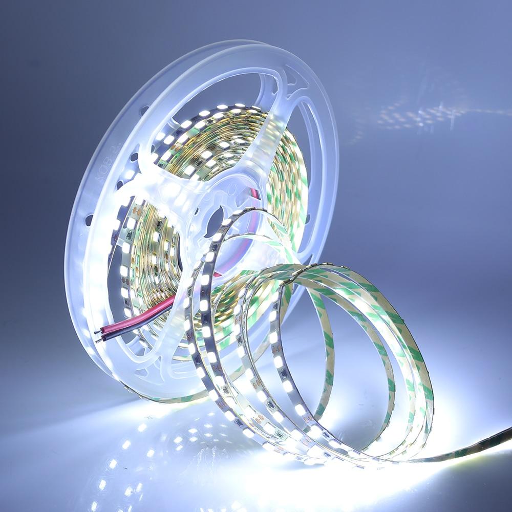 5M 2835 LED Strip Light 12V DC 120LEDs/m Super Bright 600 Pixel Flexible LED Tape String Natural White/Warm White Lights