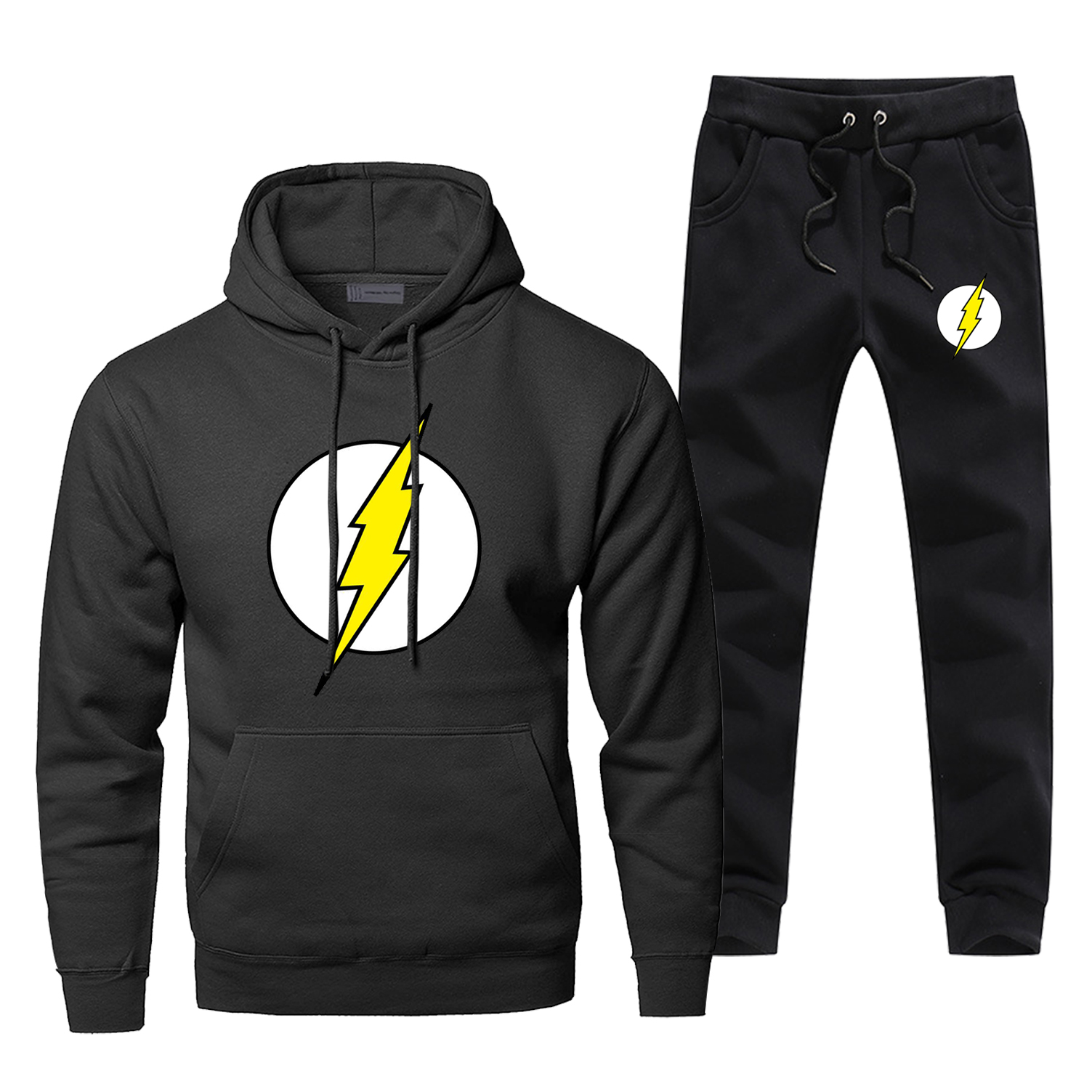 The Flash Barry Allen Hoodies Pants Sets Men Suit Tracksuit 2 Piece Set Tops Pant Sweatshirt Sweatpants STAR Autumn Sports Set