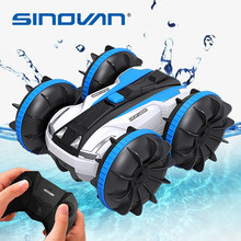 Sinovan Water & Land 2 IN 1 Remote Control Car 360° Rotate RC Cars Amphibious RC Drift Car Waterproof Stunt Car RC Toys for Kids