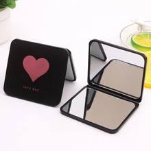 1pc mini espelho de maquiagem quadrado portátil dupla face espelho de vaidade espelho de maquilhagem espelho de maquiagem vaidade dobrável bolso compacto