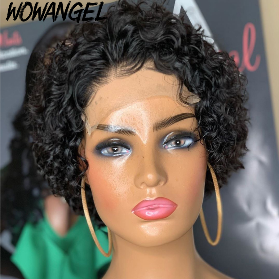 cut bob lace wigs curto renda frente