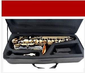 Image 5 - Vendita calda sassofono nero contralto ottone incisione modalità oro nero Sax strumenti musicali sassofono contralto professionale e custodia