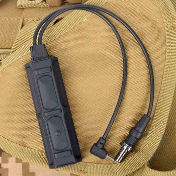 PEQ Remote Dual Switch 2 Plug Military Pressure Pad Switch Flashlight An PEQ airsoft Switch