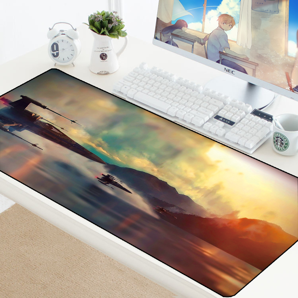 Star Wars Mouse Pad Lockedge Mouse Mat XL Keyboard Pad To Mouse Locked Edge Computer Mousepad Gaming Padmouse Gamer For Laptop