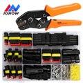 254/622PCS Elektrische Draht Stecker Stecker Auto Wasserdichten Stecker 1/2/3/4 Pin Automotive Stecker Terminals SN48 Crimpen Kit