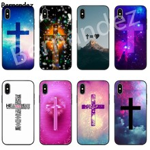 Bernandez 5 5S SE 6 6S TPU phone case cover for iPhone 7 8 plus X Xs Max XR Bible Jesus Christ Christian Cross Diy Luxury(China)