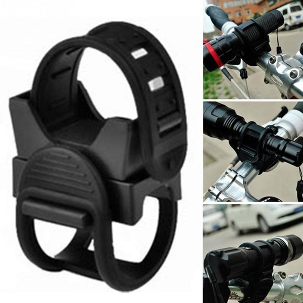 360 Degree Rotation Universal Bicycle Accessories Headlight Holder Flashlight Rack MTB Bike Light Mount in Bicycle Bottle Holder from Sports Entertainment