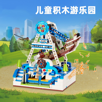 Compatible Technic Pirate ship Building Blocks movie Caribbean Set Creator Boat Model 2 Figure Bricks Block Child Toys Gifts
